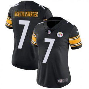 Women Steelers Ben Roethlisberger Black  Jersey